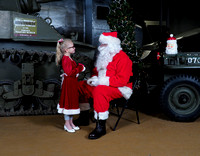 Santa at the Indiana Military Museum